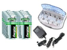 V-2299 Smart Charger + 8-Pack C Energizer Recharge NiMH Batteries (2500 mAh)