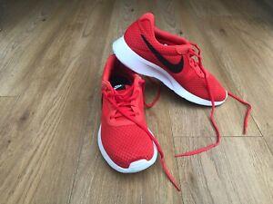 Orange Nike Trainers Size 9.5 UK