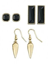 Kardashian Kollection Spike and Stone Trio Earring set