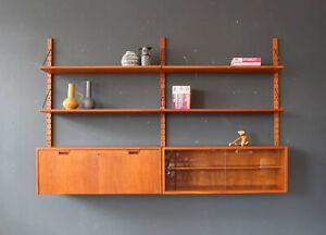 Vintage 60er Sven Ellekaer Teak Regalsystem Wandregal Mid-Century 60s Shelf 50s