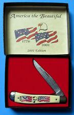 SCHRADE USA 2001 America the Beautiful Knife SC 503 NEW Lockblade Trapper 194OT
