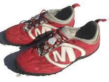❤ MERRELL UK 7 Ladies Red Leather Striker Goal AIR CUSHION Trainer Walking Shoes