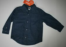 New Gymboree Woodland Party Line Blue Slub Chambray Button Shirt size 2T NWT