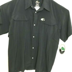 Mossy Oak Button Up Short Sleeve Vented Shirt Mens Size Large NEW
