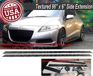 "96""x6"" Gen 1 Black Side Skirts Extension Flat Bottom Line Lip For Honda Acura"