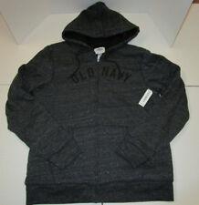 Mens Old Navy Gray Black Sherpa Fur Lined Hoodie Hooded Sweatshirt Medium