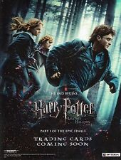HARRY POTTER AND THE DEADLY HALLOWS PART 1 2010 ARTBOX PROMOTIONAL SELL SHEET
