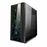Segotep Phoenix Black ATX Mid Tower Gaming PC Desktop Case  RGB Front Panel