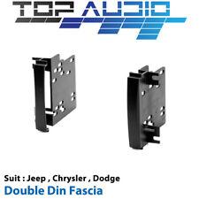 Jeep Chrysler Car radio Double 2 Din Fascia plate panel dash facia kit