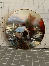 """Thomas Kinkade """"Home Is Where The Heart Is� Country Memories Plate Fifth Edition"""