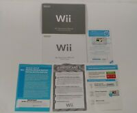 Nintendo Wii Operations Manuals: Channels, Settings & System Setup NO CONSOLE.