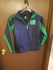 Adidas NCAA Youth Notre Dame Fighting Irish Quarter Zip Pullover Climawarm EUC