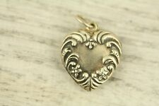 VINTAGE PUFFY HEART BIG CHARM Sterling Silver 925 GREAT ONE FOR BRACELET-S9300