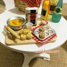 Dollhouse Chopping Arrange Cutting Board 1:6 Miniature Cookware Accessories
