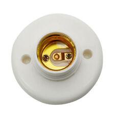 E27 Screw Base Round Plastic Light Bulb Lamp Socket Holder Adapter 220V HC