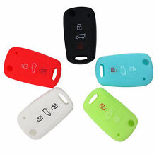 3 Button Silicone Remote Flip Key Case Fob For Kia Sportage Soul Rio ceed Optima