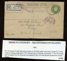 Ireland - 1923 - Postal Stationery - 5 Pence Olive Green Registered Envelope