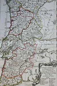1765 1770 Map Carte géographique Atlas Philippe Prétot Moithey Royaume Portugal