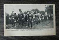 AD) Blatt Beisetzung Herzogin zu Mecklenburg Schwerin 1907 Johann Albrecht +++