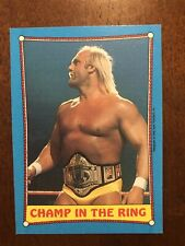 WWE WWF HULK HOGAN 1987 TOPPS CHAMP IN THE RING #37 Wrestlemania Classic