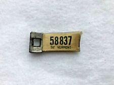 1952 VERMONT DAV Keychain License Plate # 58837
