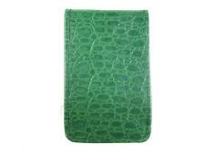 Sunfish Leather Golf Scorecard & Yardage Book Holder / Cover - Green Croc