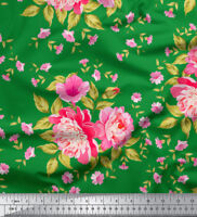 Soimoi Fabric Lilac & Peony Floral Print Sewing Fabric BTY - FL-1029C