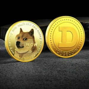 Gold Dogecoin Coin Commemorative 2021 New Collectors Doge Souvenir Medal Gift US