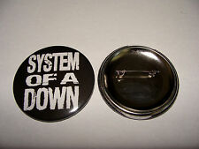 BADGE 56mm  SYSTEM OF THE DOWN logo