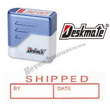 { SHIPPED BY DATE } Deskmate Red Pre-Inked Self-Inking Rubber Stamp #KE-S05A