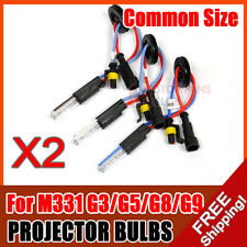"""2X 35W HID Projector Lens Bulbs Replacement for 2.0"""" 2.5"""" 2.8"""" 3.0"""" G1 G3 G5 G8"""