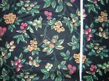 * Fall Flowers, Berries, Acorns * OOP Fall Floral Cotton Fabric  by VIP -    bty