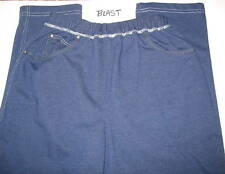 BLAST  - BLUE -  SMALL / PETITE  COTTON BLEND CASUAL  PANTS