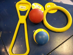 Classic Solid Rubber Dog/Puppy Toys/ Rubber ball, ring & tug. All sizes.