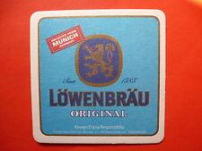 BEER Bar COASTER ~ Lowenbrau ~ Tradition In Munchen ~ Bavaria, Germany Brewery