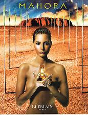 PUBLICITE ADVERTISING  2000   GUERLAIN  Parfum femme MAHORA