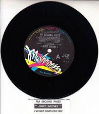"JIMMY BARNES  No Second Prize COLD CHISEL 7"" 45 record + juke box title strip"