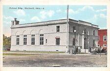 A40/ Blackwell Oklahoma Ok Postcard c1920 Federal Building Auto