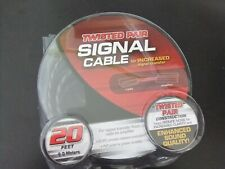 Rockford Fosgate Signal Cable 20' Twisted Pair