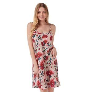 Ladies Pink Daisy Satin Lace Chemise Nightshirt Nightie Size 12 14 16 18