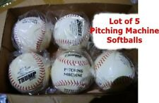 "*New* Lot of 5 Trump Stote 12"" Pitching Machine Softballs Mp-Pmp Leather Cover"