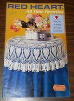 Red Heart All Time Favorites Book 285 ~ Crochet 8 patterns popcorn motif #3160