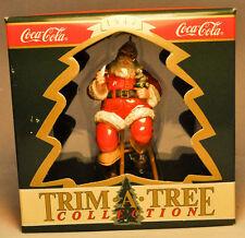 Enesco: Santa On Stool - Coca-Cola - Trim A Tree - Holiday Ornament