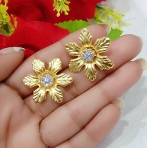 New Bollywood Fashion Wear Gold Plated Diamond Studded Earrings For Women & Girl
