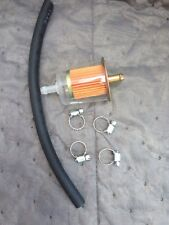 "Prime Universal 5/16"" Plastic Fuel Filter With Hose And Clamps"