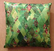 Pillow Cushion Olympic colors green Patchwork Souvenir Sochi 2014 Olympic Games
