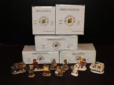 Boyds Bearly Villages Accessories Lot of 10 Cocoa Highstick Bruin Ambulance Huck