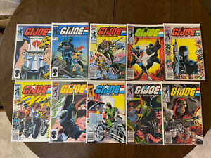GI Joe Comic Lot Of 10 Cobra Snake Eyes 44-46 And 53 56 63 64 32 48 Good Shape!
