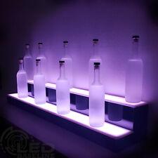 48 2 Step Led Lighted Glowing Liquor Bottle Display Shelf Home Back Bar Rack