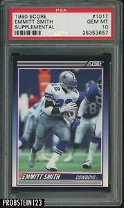 1990 Score Traded Supplemental #101T Emmith Smith Cowboys RC Rookie HOF PSA 10